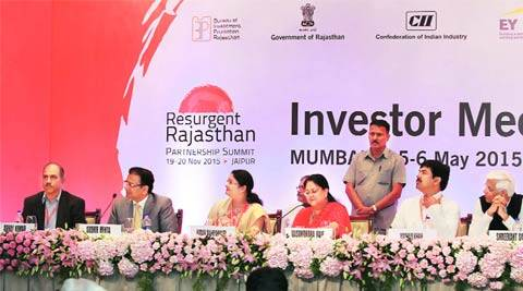Vasundhara Raje, Narendra Modi, Make in India campaign, Vasundhara Raje Rajasthan, PPP, Rajasthan government, Central labour laws, labour reforms, Raje Cabinet, Industrial Disputes Act, Contract Labour Act , Factories Act, business news, indian express