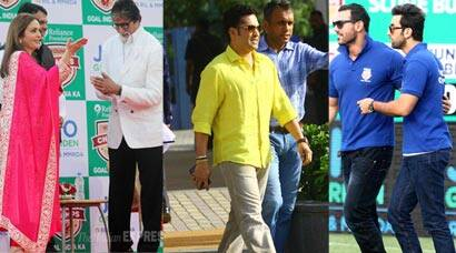Ranbir, John, Big B with Ambanis