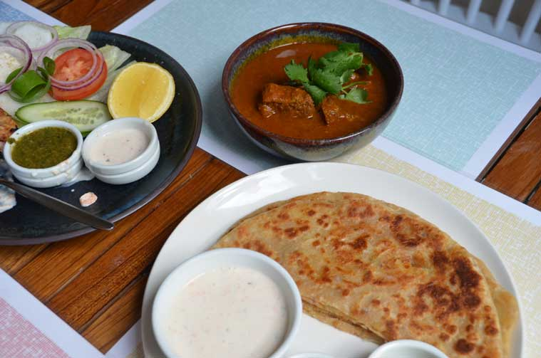 Parathas at Red Pepper (Source: Sandip Hor)