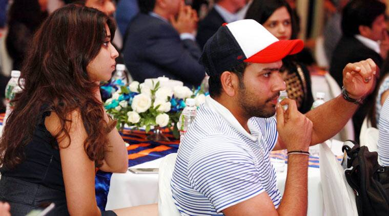Rohit Sharma's night out with fiancee Ritika Sajdeh