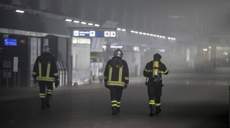 Rome, Rome airport, Rome airport fire, Italy airport fire, Italy airport,