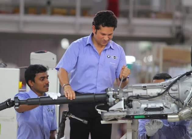 Sachin Tendulkar, BMW, BMW Sachin Tendulkar, Tendulkar, Tendulkar Photos, BMW photos, BMW factory photos, Sachin Tendulkar photos, Cricket photos, Cricket, BMW car photos