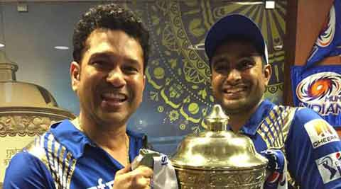 Sachin Tendulkar gears up for massive celebration after MI's victory