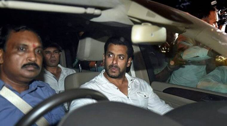 Bollywood actor Salman Khan leaves the court after getting an interim 2 days bail by the High Court in the 2002 hit-and-run case in Mumbai on Wednesday. The court sentenced Khan to 5 years in prison for culpable homicide for the death of a man in the case. (Source: PTI)
