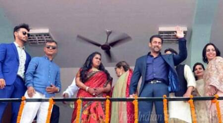 "Salman Khan at sister's reception in Mandi, says ""have come here to hand over Arpita, who is my heart"""