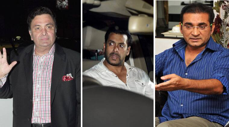 salman khan verdict, salman khan news, salman khan, hita nd run case, rishi kapoor, abhijeet bhattacharya, ajaz khan