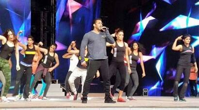 Salman Khan in Dubai, rehearses for performance ahead of AIBA