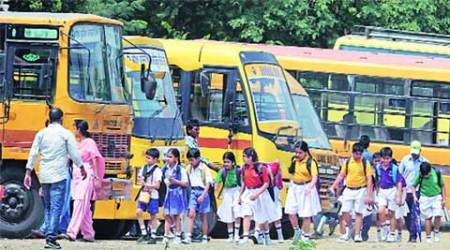 school bus, school students, buses, sexual assault, minor sexual assault, bus conductor, children safety, school student safety, bus safety, chandigarh news, city news, local news, Chandigarh newsline, Indian Express
