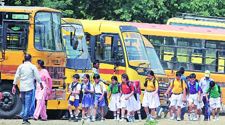 School bus, School student, student security, student safety, school bus safety, female school bus attendants, female school bus, High Court, chandigarh news, city news, local news, chandigarh newsline, Indian Express