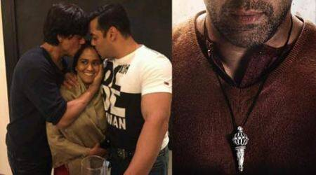 Rivalry over forever; Shah Rukh Khan unveils Salman Khan's 'Bajrangi Bhaijaan's first look