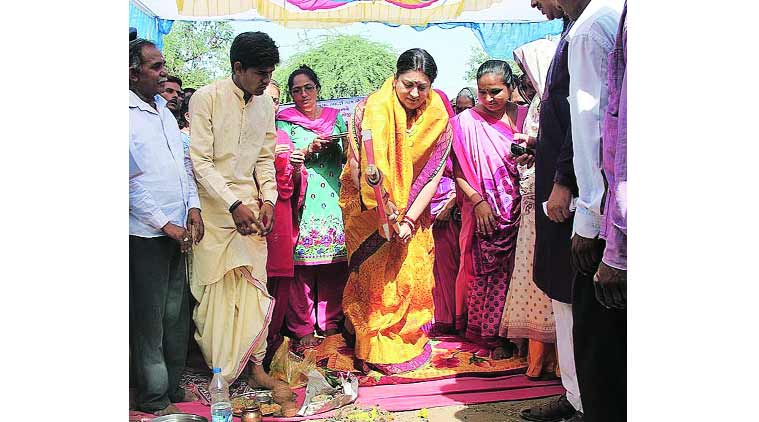 Smriti Irani gives over Rs 7-cr boost to Maghrol village | Cities