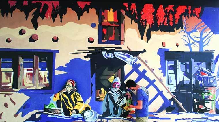 kashmir, kashmir street art, kashmir culture, kashmiri culture, kashmir street paint, street art, street paint, indian express news, kashmir news, indian express