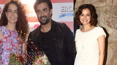 Kangana Ranaut, Madhavan around town for 'Tanu Weds Manu Returns'; Dia, Sophie watch the film