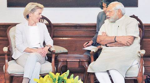 Narendra Modi, Manohar Parrikar, German military, India Germany ties, German defence minister Leyen, Ursula von der Leyen, Make In India, Make In India initiative, India latest news
