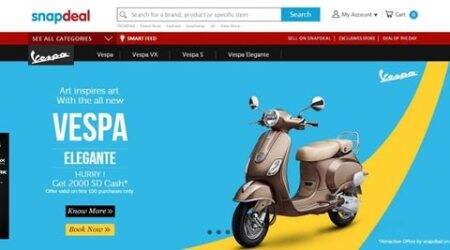 Now buy Vespa scooters onSnapdeal