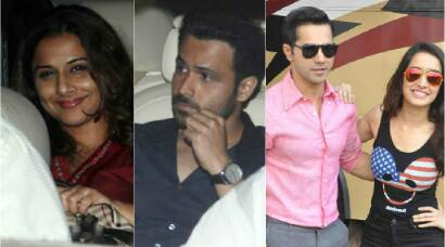 Movie time for Vidya Balan-Emraan Hashmi, Varun-Shraddha busy with 'ABCD 2'
