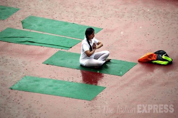Narendra Modi, Baba Ramdev, Mufti Shamoon Qasmi, Mega Rehearsal, International Yoga Day, Sri Sri Ravi Shankar, Guinness world record, Yoga Guinness Record, Baba Ramdev yoga, Randev Ravi Shankar, Narendra modi baba Ramdev, Modi Ramdev