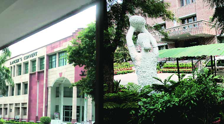 Lancer's Convent and Bal Bharati Public School — two of the schools under probe.  (Source: Express photo by Amit Mehra)