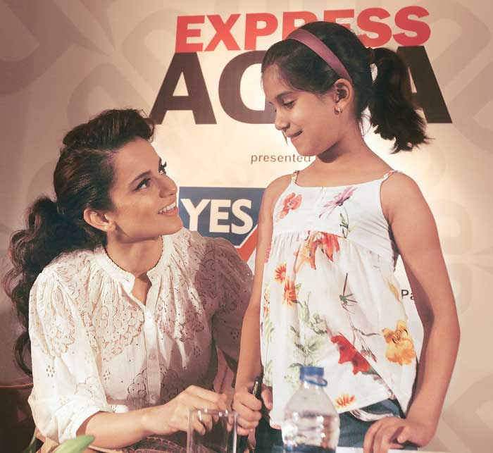 """Eight-year-old Samaira Sachdev asked Kangana what she liked best about her acting career. Kangana quipped, """"My favourite part is when I get the cheque""""."""