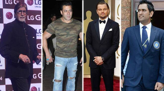 Amitabh Bachchan, Salman, MS Dhoni, Leonardo DiCaprio: World's highest paid celebrities
