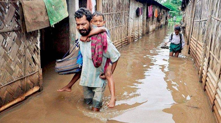 assam news, assam floods, floods in assam, assam weather, assam weather, india news, assam rains, northeast news