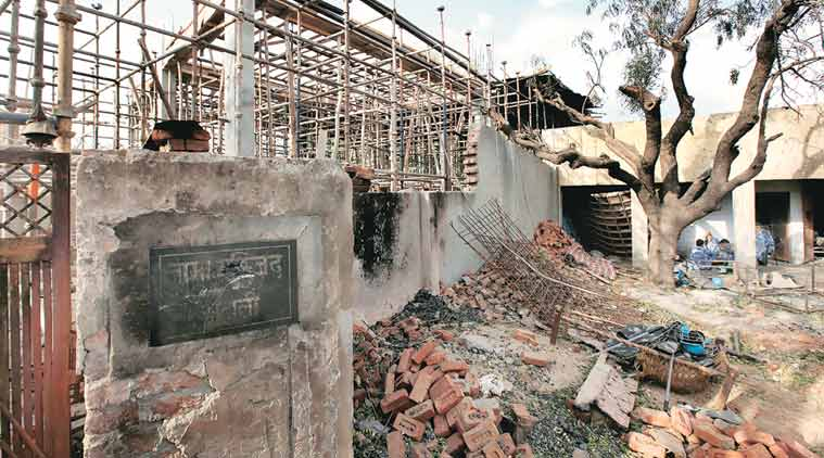 The mosque was set on fire during Atali riots on May 26.