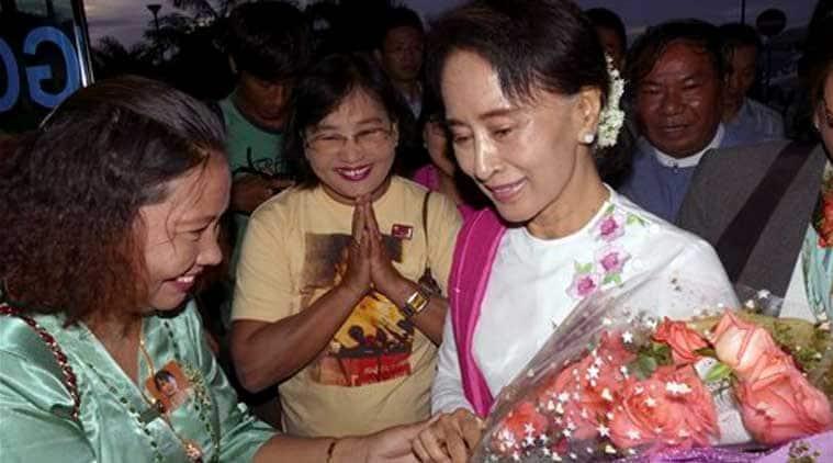 Aung San Suu Kyi, Myanmar china, Aung San Suu Kyi China, Suu Kyi china meet, china myanmar, Suu Kyi myanmar, international news, news