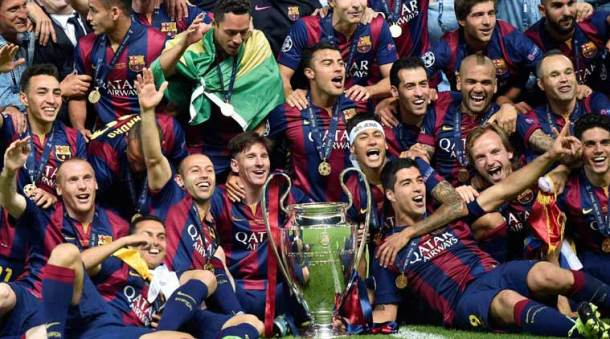 Barcelona bask in Champions League glory
