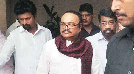 Chhagan Bhujbal being questioned by ED in the Maharashtra Sadan scam