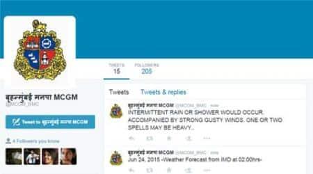 bmc, mumbai rain, mumbai rains, mumbai monsoon, mumbai weather, mumbai waterlogging, mumbai potholes, bmc potholes, potholes, waterlogging, twitter, bmc twitter handle, mgcm, mumbai news, india news