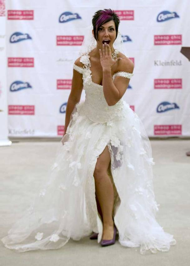 Wedding dresses made of toilet paper, any takers?
