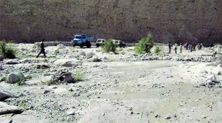 Constructed on riverbed, road to China border beingrebuilt