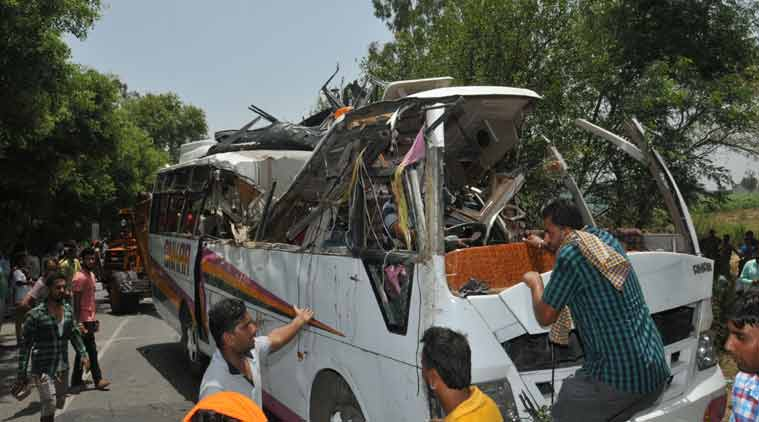 Bus accident, Bus accident Chandigarh, Bus accdent behram, India news