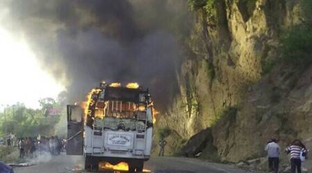 Bus carrying over 40 Vaishno Devi pilgrims catches fire, no casualties reported