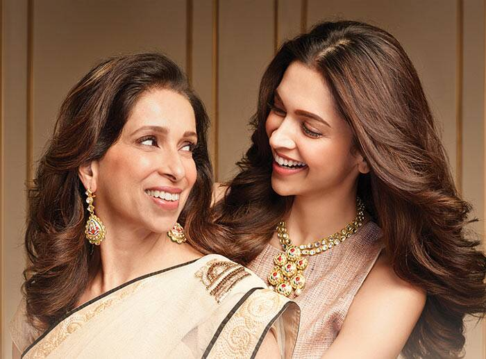 Deepika with her mom in Tanishq ad.