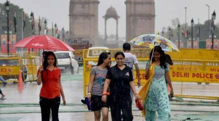 Morning rains bring relief for Delhiites