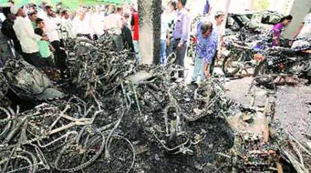Pune: 77 two-wheelers, eight 4-wheelers torched in Pune