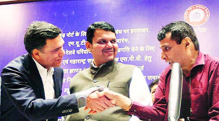 CM Devendra Fadnavis, Devendra Fadnavis, Suresh Prabhu, Railway ministry, MUTP-III, Mumbai Urban Transport Project, MoU, mumbai news, city news, local news, maharashtra news, Indian Express