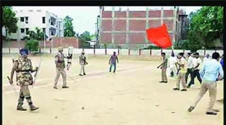 Saffron Flag in Mock Drill: BJP adamant on apology, action against 'guilty' cops