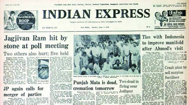 Indian express, express front page