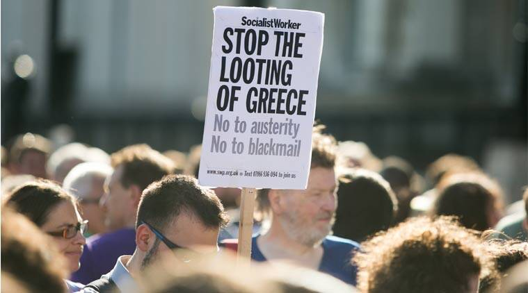 Asia, Asian trading, Asian shares, Greece, Greece banks, Greece banks closure, Greece protests, Greece economy, Greece ATM limits, Greece limits withdrawals, Greece ATM withdrawals, Greece banks shut, European central bank, Greece loans, economy Greece, europe news, economy news, world news, indian express news