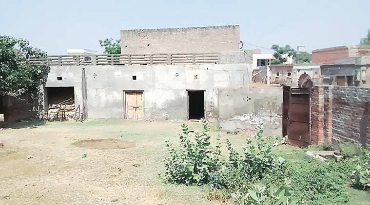 The house in which Guddi Devi, Sandeep were murdered last month. (Source: Express photo by Japjeet Duggal)