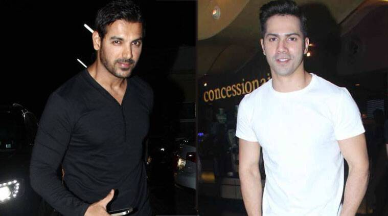 john abraham, varun dhawan, dhishoom, sajid nadiadwala, rohit dhawan, jacqueline fernandez, actor varun dhawan, varundhawan in dhishoom, actor john abraham, john abraham in dhishoom, entertainment news