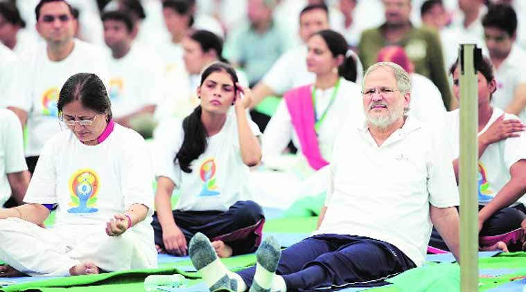 international yoga day, yoga day, yoga at rajpath, narendra modi, modi initiative, PM Modi, delhi news, city news, local news, Indian Express