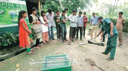 Kaziranga villagers learn to protect animals during floods