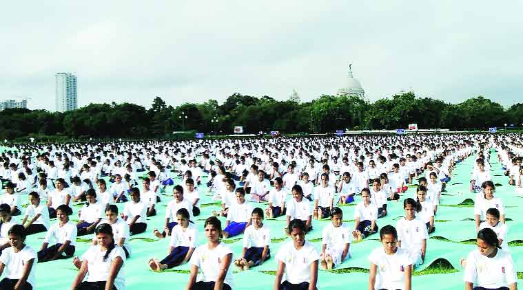 international yoga day, yoga day, mamata banerjee, mamata govt, mamata ministers, kolkata news, city news, local news, bengal news, Indian Express