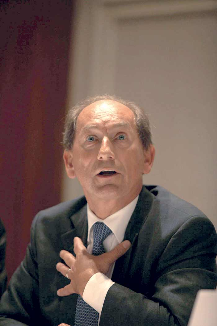 Nestle's global CEO Paul Bulcke in Delhi on Friday.  (Source: Express Photo by Renuka Puri)