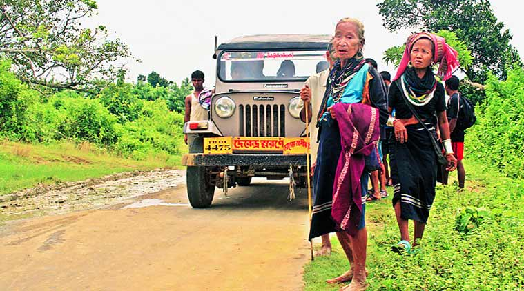 Displaced Bru tribals return home to Mizoram from relief camps in Tripura during the 2013 repatriation process. (Source: express photo by Adam Halliday)