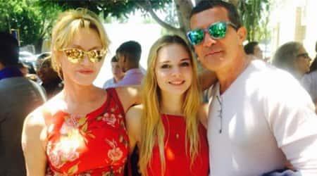 Melanie Griffith, Antonio Banderas reunite for daughter Stella'sgraduation
