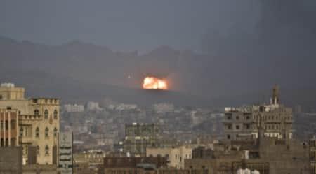 Heavy Saudi-led airstrikes hit rebels in southernYemen